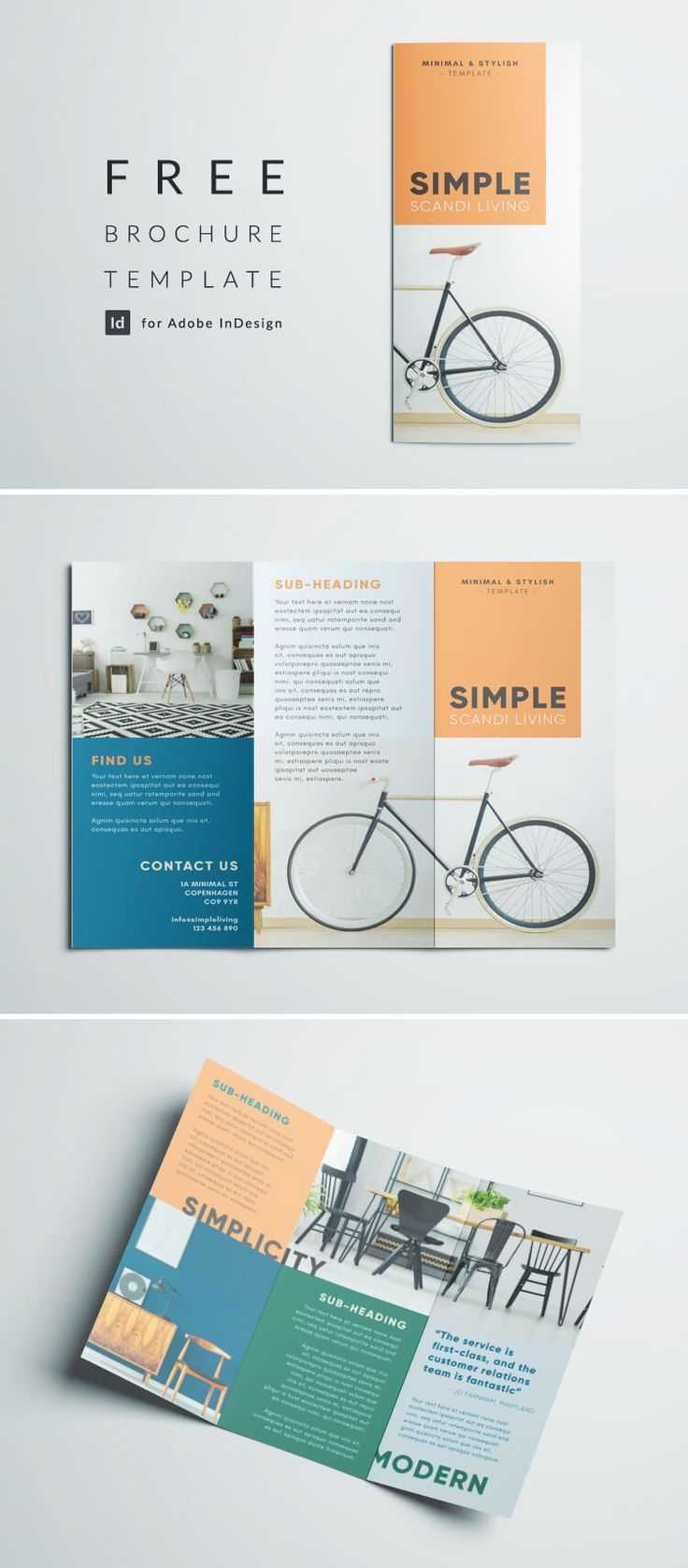 Simple Tri Fold Brochure | Design Inspiration | Graphic Inside Adobe Indesign Tri Fold Brochure Template