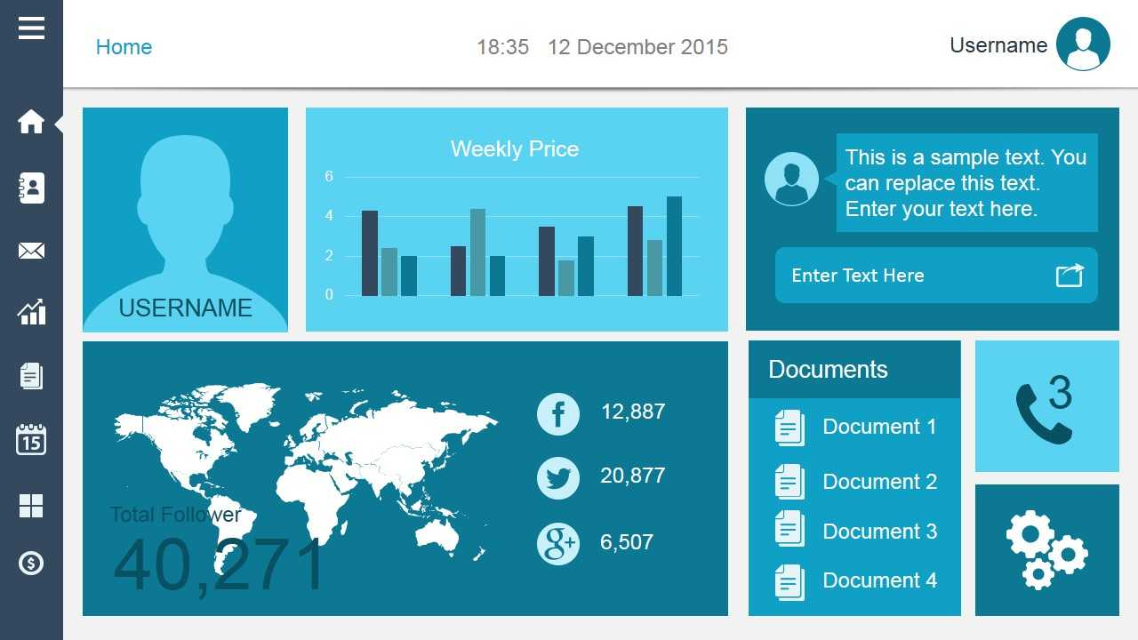 Smart Dashboard Powerpoint Template For Free Powerpoint Dashboard Template