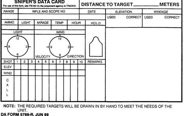 Sniper Data Card | Hunting | Range Shooter, Shooting Targets pertaining to Dope Card Template