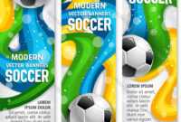 Soccer Ball Banner Of Football Sport Club Template pertaining to Sports Banner Templates