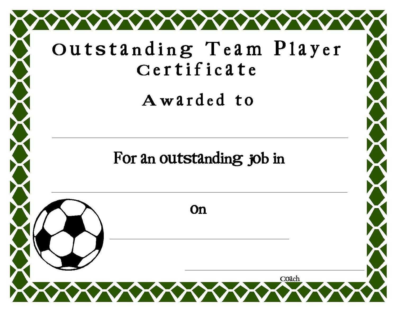 Soccer Certificate Templates Blank   K5 Worksheets Intended For Soccer Certificate Template