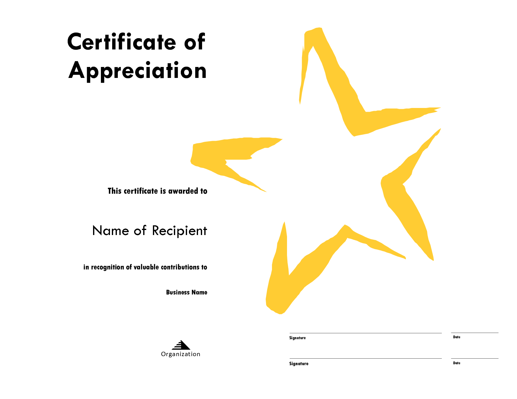 Star Award Certificate Templates Free Image With Star Award Certificate Template