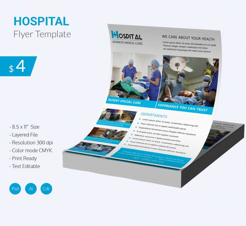 Stunning Hospital Flyer Template Download   Free & Premium With Healthcare Brochure Templates Free Download