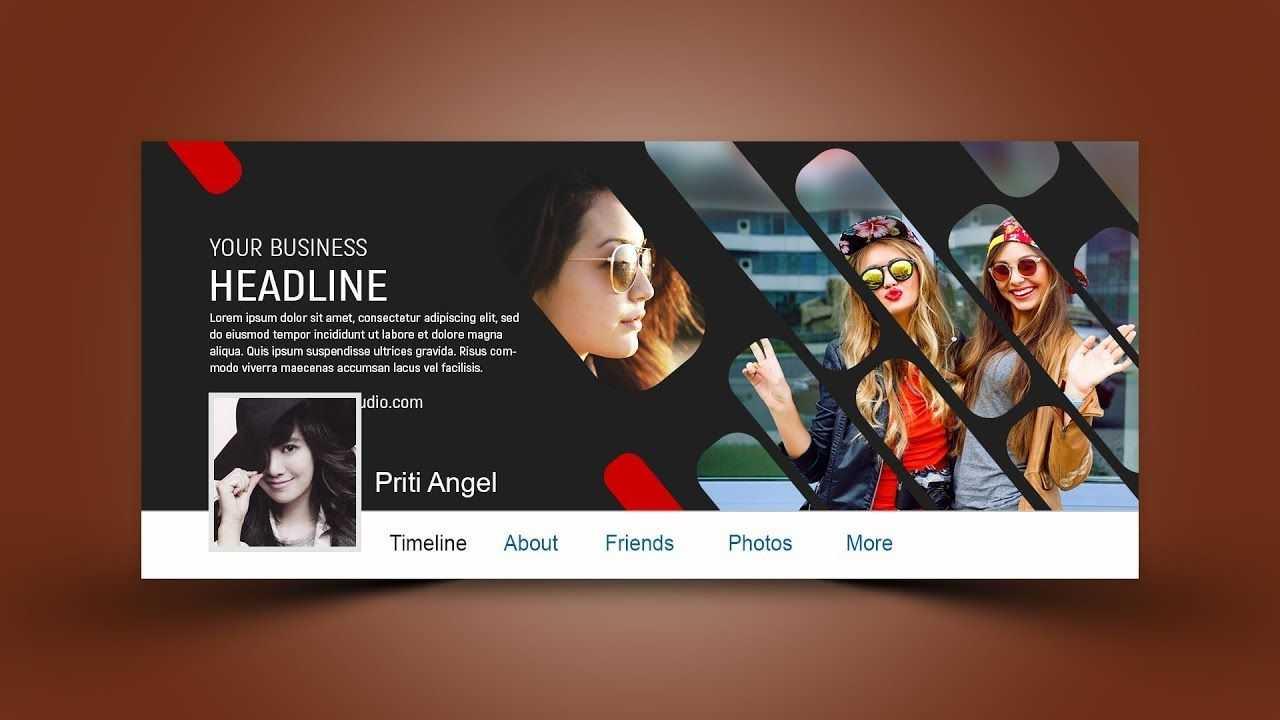 Stylish Facebook Cover Design Photoshop Tutorial   Facebook Regarding Photoshop Facebook Banner Template