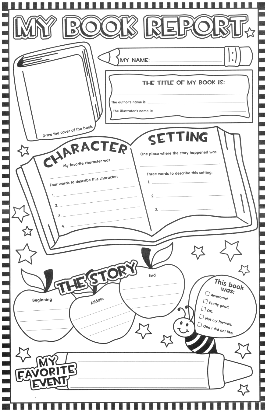 Such A Fun Looking Page For The Kids To Fill Out After Pertaining To First Grade Book Report Template