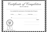 Sunday School Promotion Day Certificates | Sunday School Intended For 5Th Grade Graduation Certificate Template