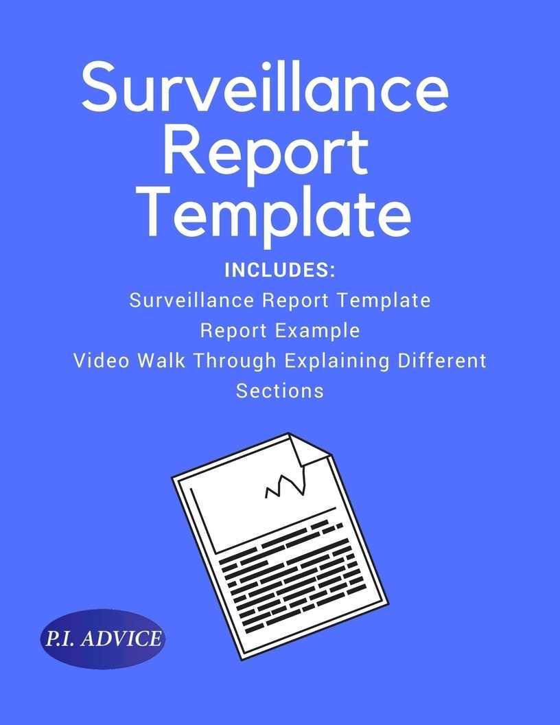 Surveillance Report Template Pertaining To Private Investigator Surveillance Report Template