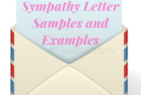 Sympathy Letter Samples And Examples – Sympathy Card Messages for Sorry For Your Loss Card Template