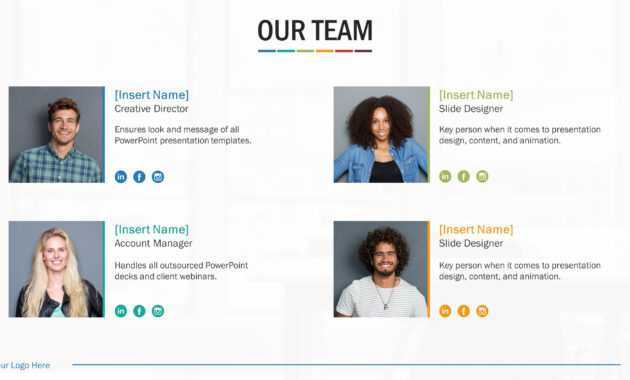 Team Biography Slides For Powerpoint Presentation Templates regarding Biography Powerpoint Template