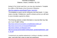 Technical Writing Format in Template For Technical Report