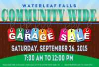 Template: Community Garage Sale Falls Flyer Template regarding Garage Sale Flyer Template Word