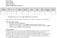 Test Report (Final Report To Client) Template (Word: 41Kb/1 with regard to Test Template For Word