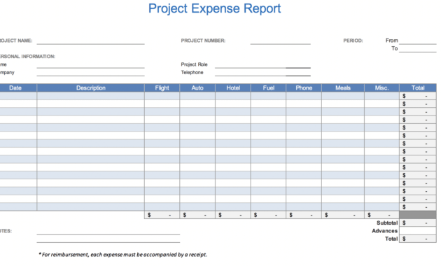The 7 Best Expense Report Templates For Microsoft Excel intended for Expense Report Spreadsheet Template Excel