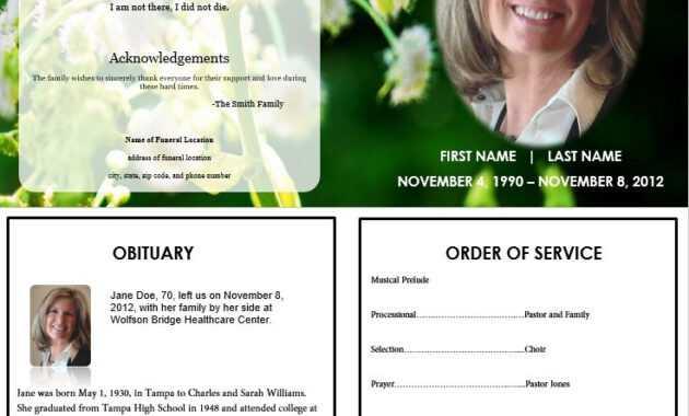 The Funeral-Memorial Program Blog: Printable Funeral in Memorial Card Template Word