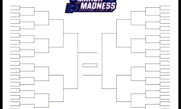 The Printable March Madness Bracket For The 2019 Ncaa Tournament within Blank March Madness Bracket Template