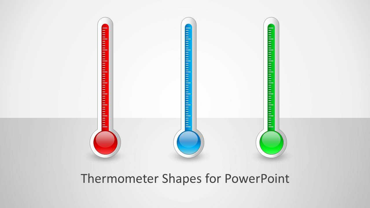 Thermometer Shapes For Powerpoint In Thermometer Powerpoint Template