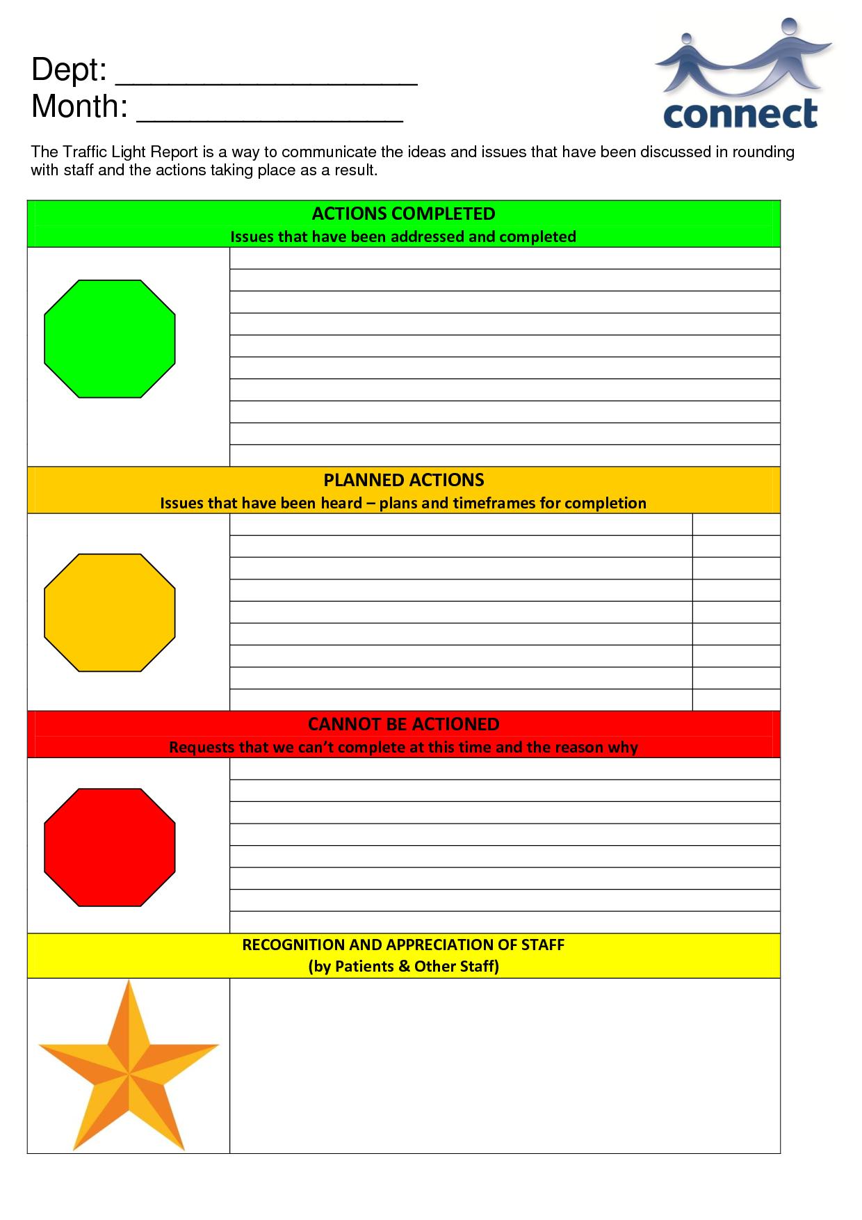 Traffic Light Report Template Five Taboos About Traffic Pertaining To Stoplight Report Template