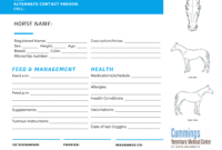 Travel Confidently   News At Cummings School Of Veterinary with regard to Horse Stall Card Template