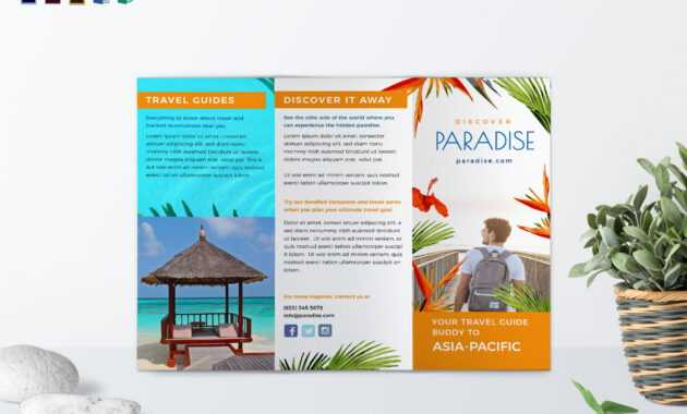 Travel Tri Fold Brochure Template pertaining to Word Travel Brochure Template