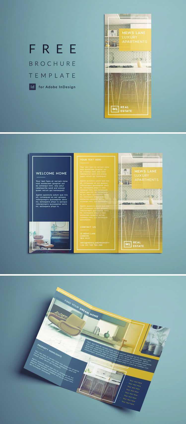 Tri Fold Brochure | Free Indesign Template Pertaining To Adobe Indesign Tri Fold Brochure Template