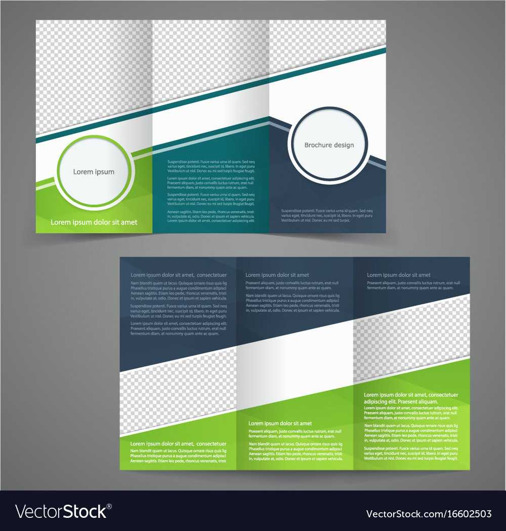 Tri-Fold Business Brochure Template Two-Sided within One Sided Brochure Template