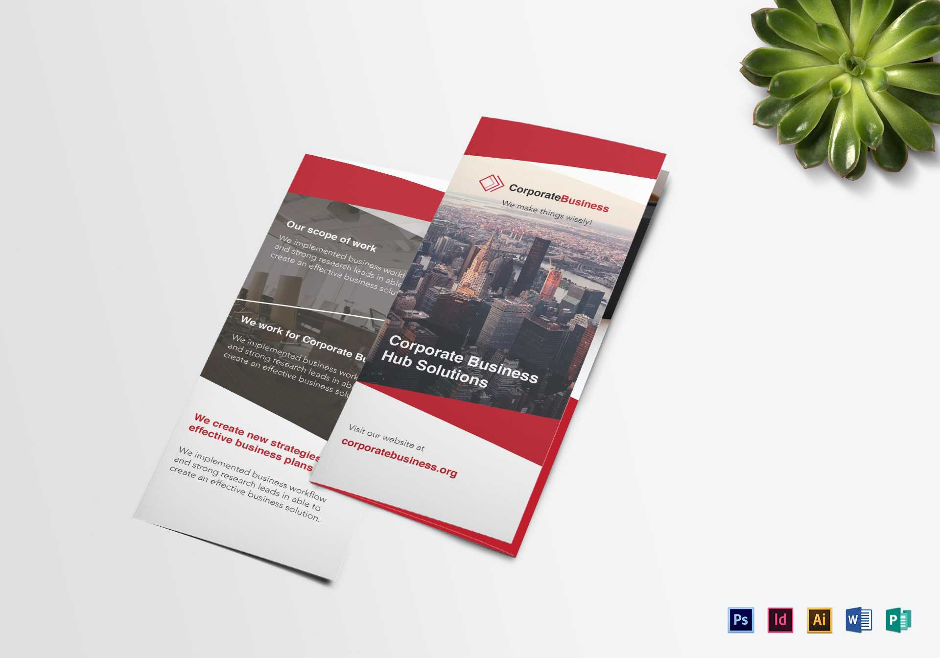 Tri Fold Corporate Business Brochure Template In Tri Fold Brochure Publisher Template