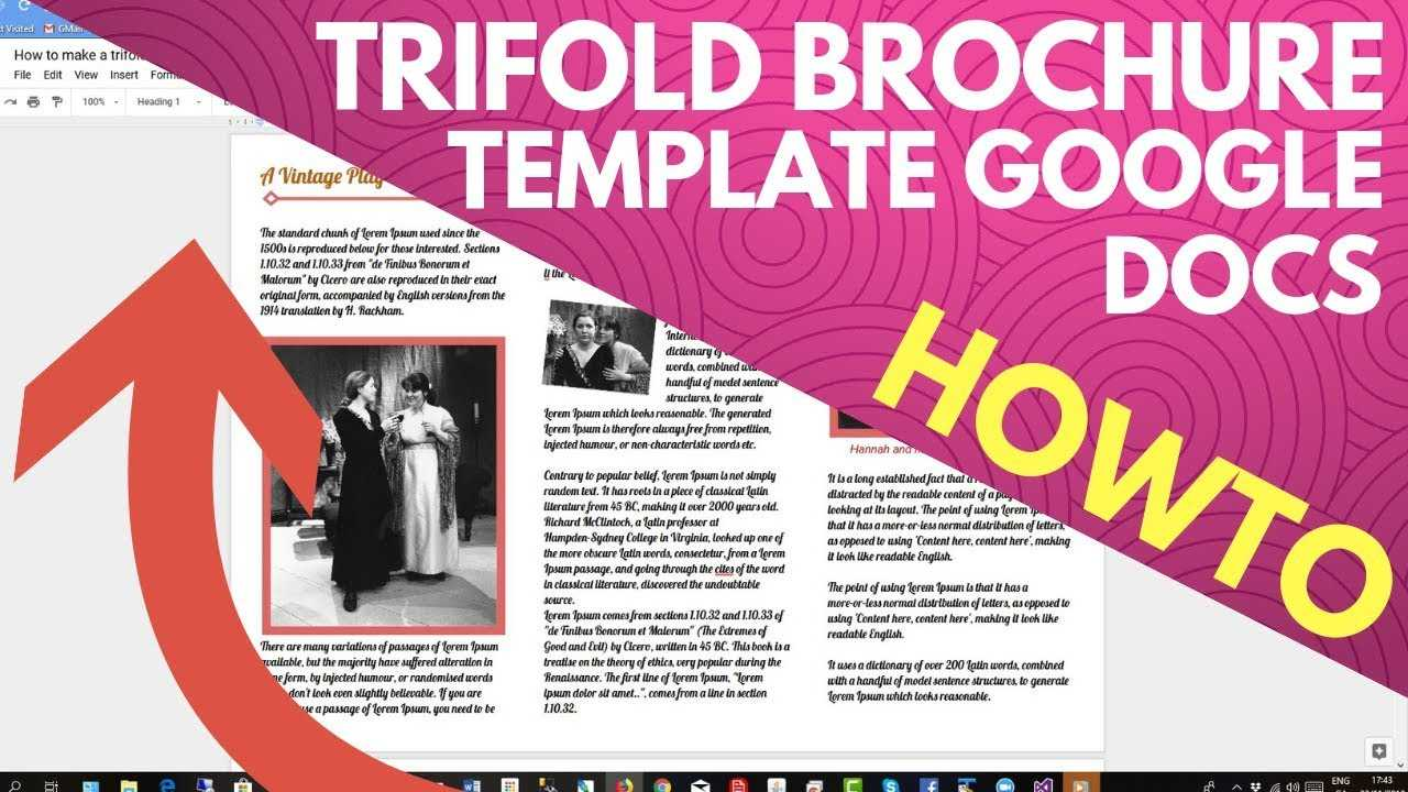 Trifold Brochure Template Google Docs Pertaining To Brochure Templates For Google Docs