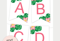 Tropical Printable Banner | Free Printables – Free Printable within Printable Letter Templates For Banners