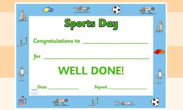 Twinkl Resources >> Editable Sports Day Award Certificates in Sports Day Certificate Templates Free