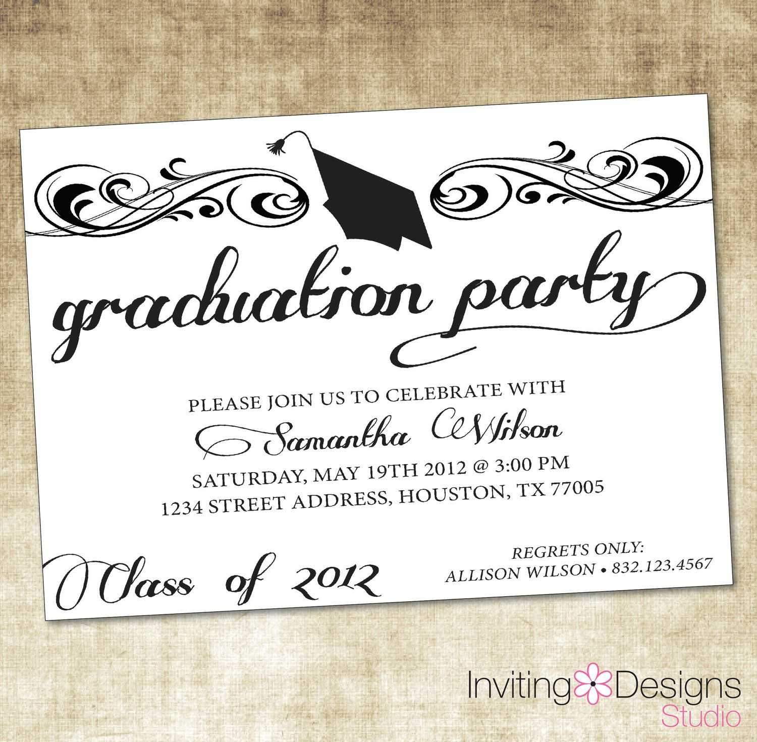 Unique Ideas For College Graduation Party Invitations With Regard To Graduation Party Invitation Templates Free Word