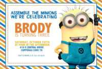 Updated! Bunch Of Minion Birthday Party Invitations Ideas inside Minion Card Template