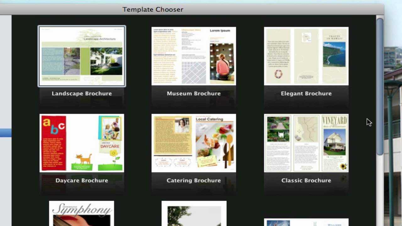 Use Pages On Macs To Create A Pamphlet (View Description) With Regard To Mac Brochure Templates