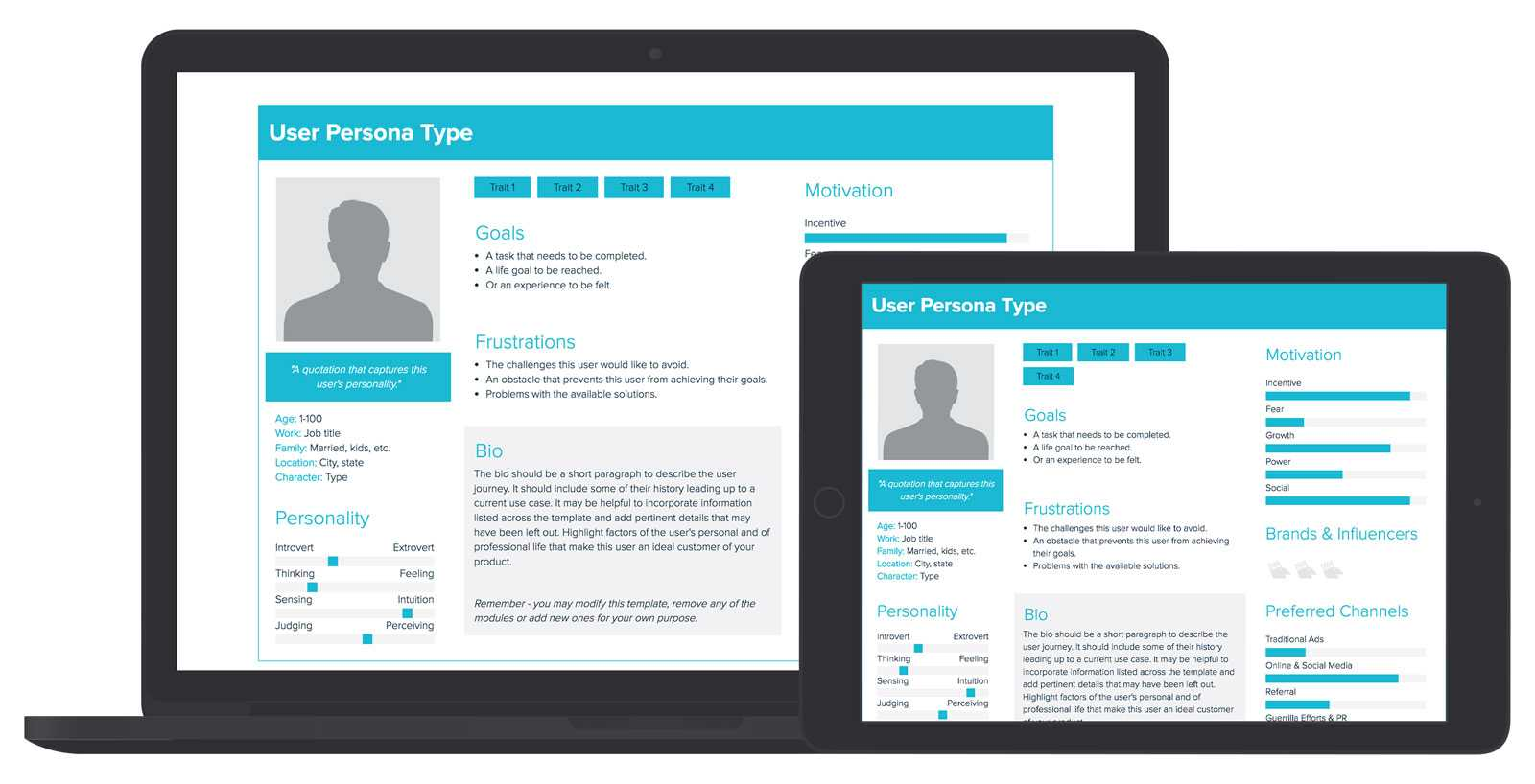 User Persona Template And Examples | Xtensio Regarding Bio Card Template