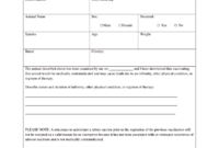 Vaccination Certificate Format – Fill Online, Printable with regard to Dog Vaccination Certificate Template