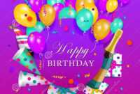 Vector Happy Birthday Banner Poster Template Stock Vector with regard to Free Happy Birthday Banner Templates Download