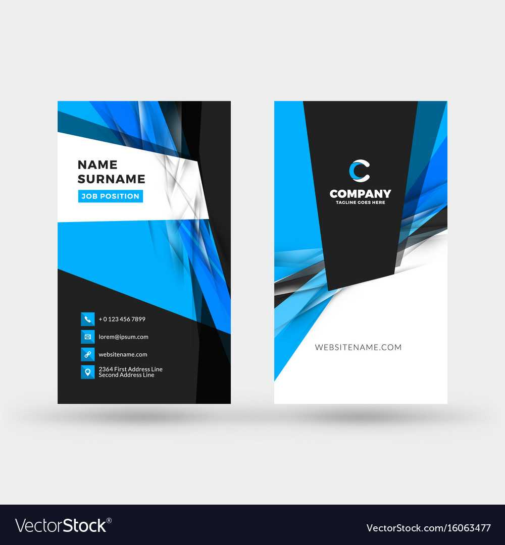 Vertical Double Sided Business Card Template Pertaining To Double Sided Business Card Template Illustrator