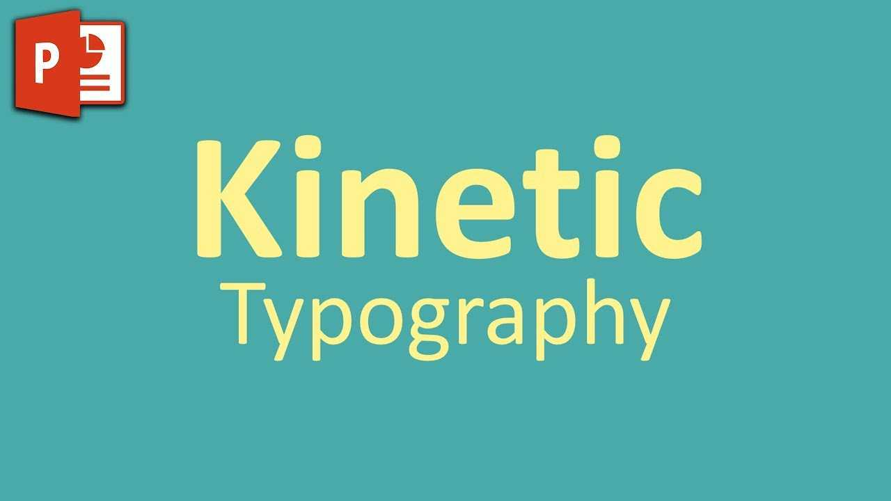 Very Simple Kinetic Typography In Powerpoint ✔ in Powerpoint Kinetic Typography Template
