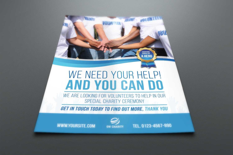 Volunteer Charity Flyer Template intended for Volunteer Brochure Template