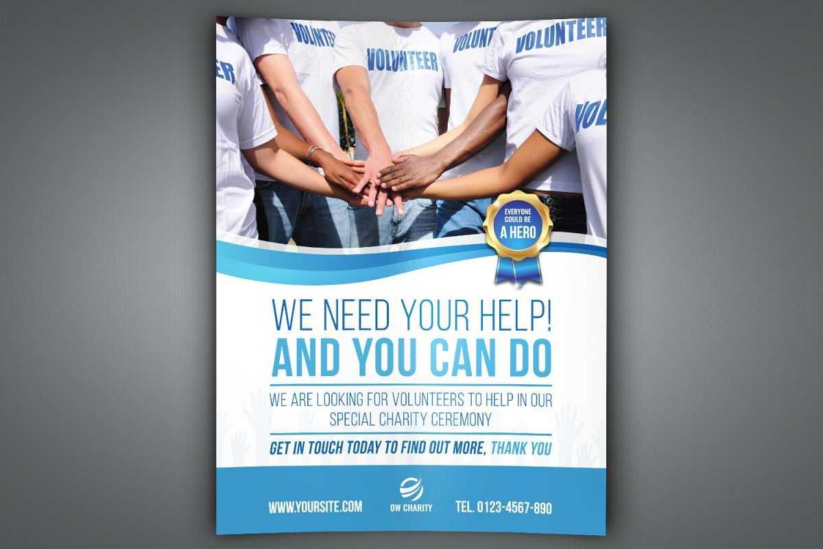 Volunteer Charity Flyer Template throughout Volunteer Brochure Template