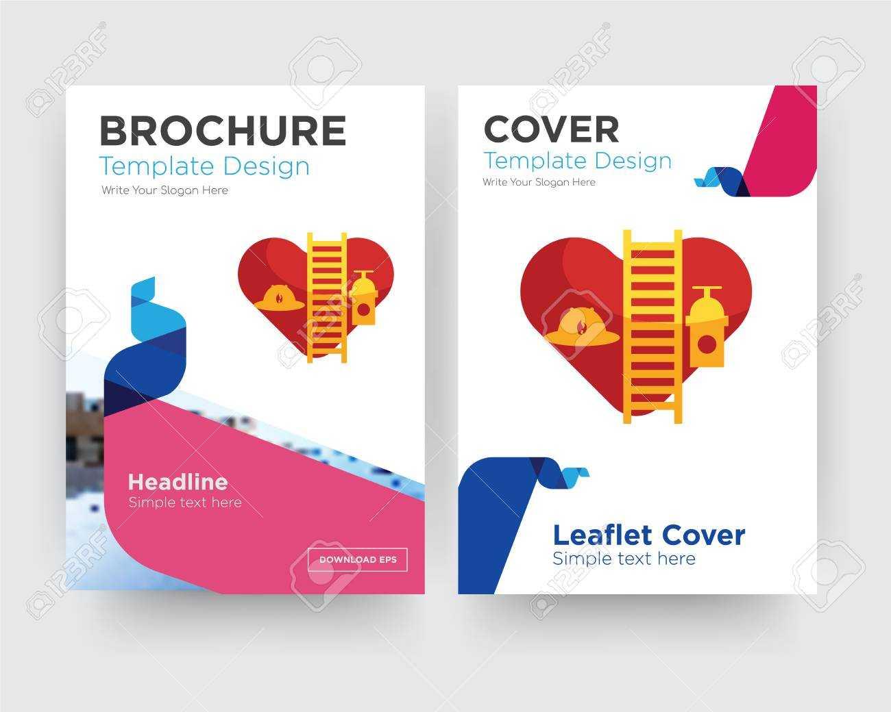 Volunteer Fire Department Brochure Flyer Design Template With.. regarding Volunteer Brochure Template