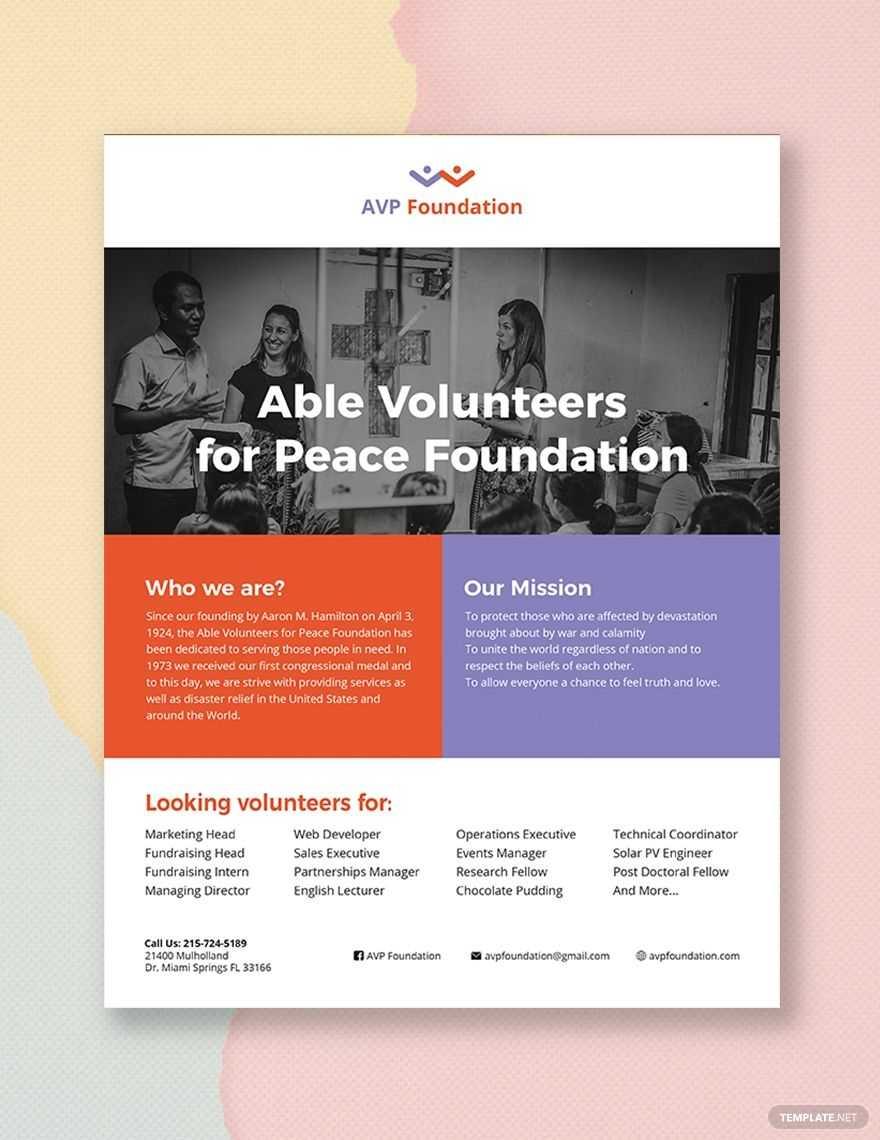 Volunteer Flyer | Flyer Template, Booklet Template, Templates With Volunteer Brochure Template