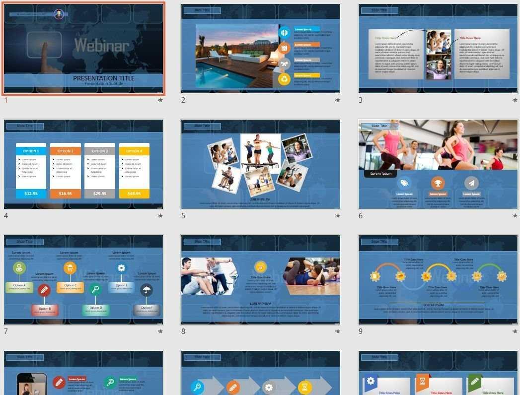 Webinar Powerpoint Template #45853 With Webinar Powerpoint Templates