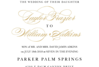 Wedding Invitation Wording Samples with regard to Sample Wedding Invitation Cards Templates