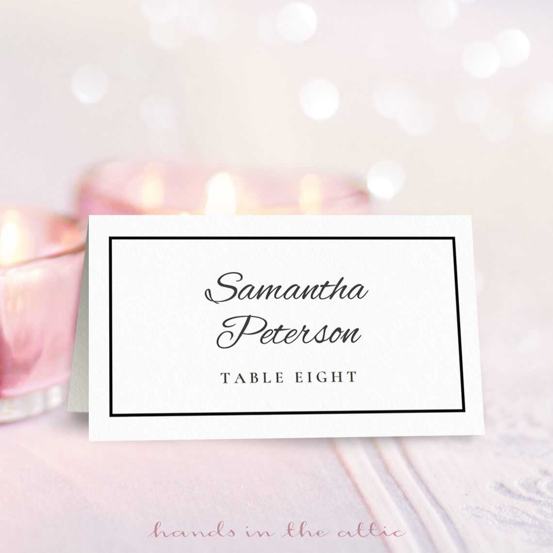 Wedding Place Card Template | Free On Handsintheattic Intended For Wedding Place Card Template Free Word