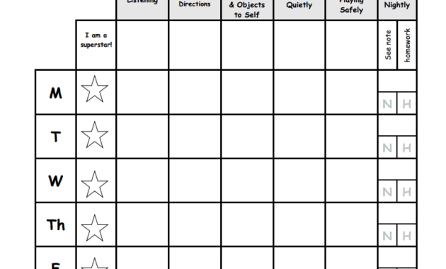 Weekly Behavior Report Template.pdf - Google Drive for Daily Behavior Report Template