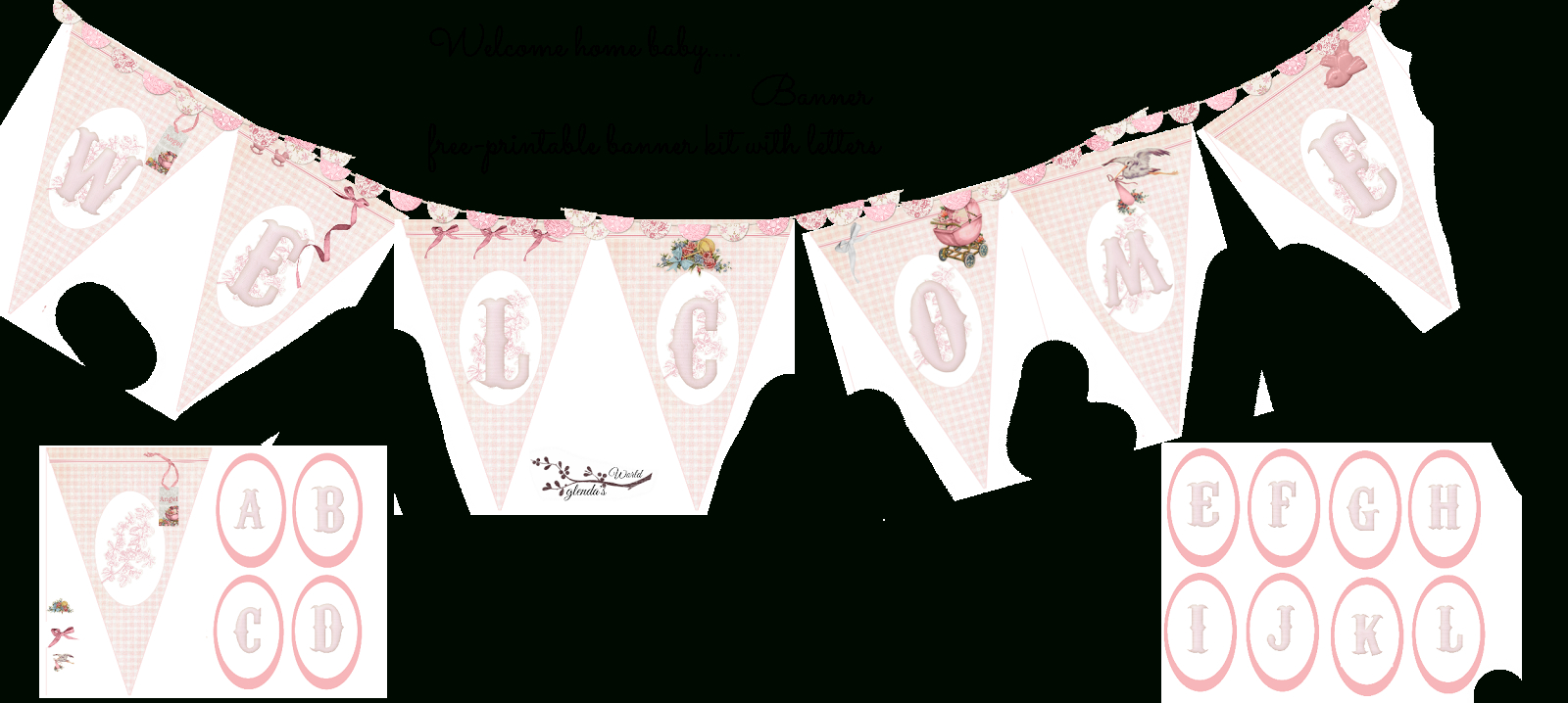 Welcome Home Baby Girl Banner | Do It Yourself Today In Christening Banner Template Free