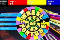 Wheel Of Fortune Powerpoint Game Games For Teachers Show for Wheel Of Fortune Powerpoint Game Show Templates