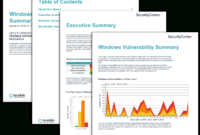 Windows Vulnerability Summary Report – Sc Report Template within Nessus Report Templates