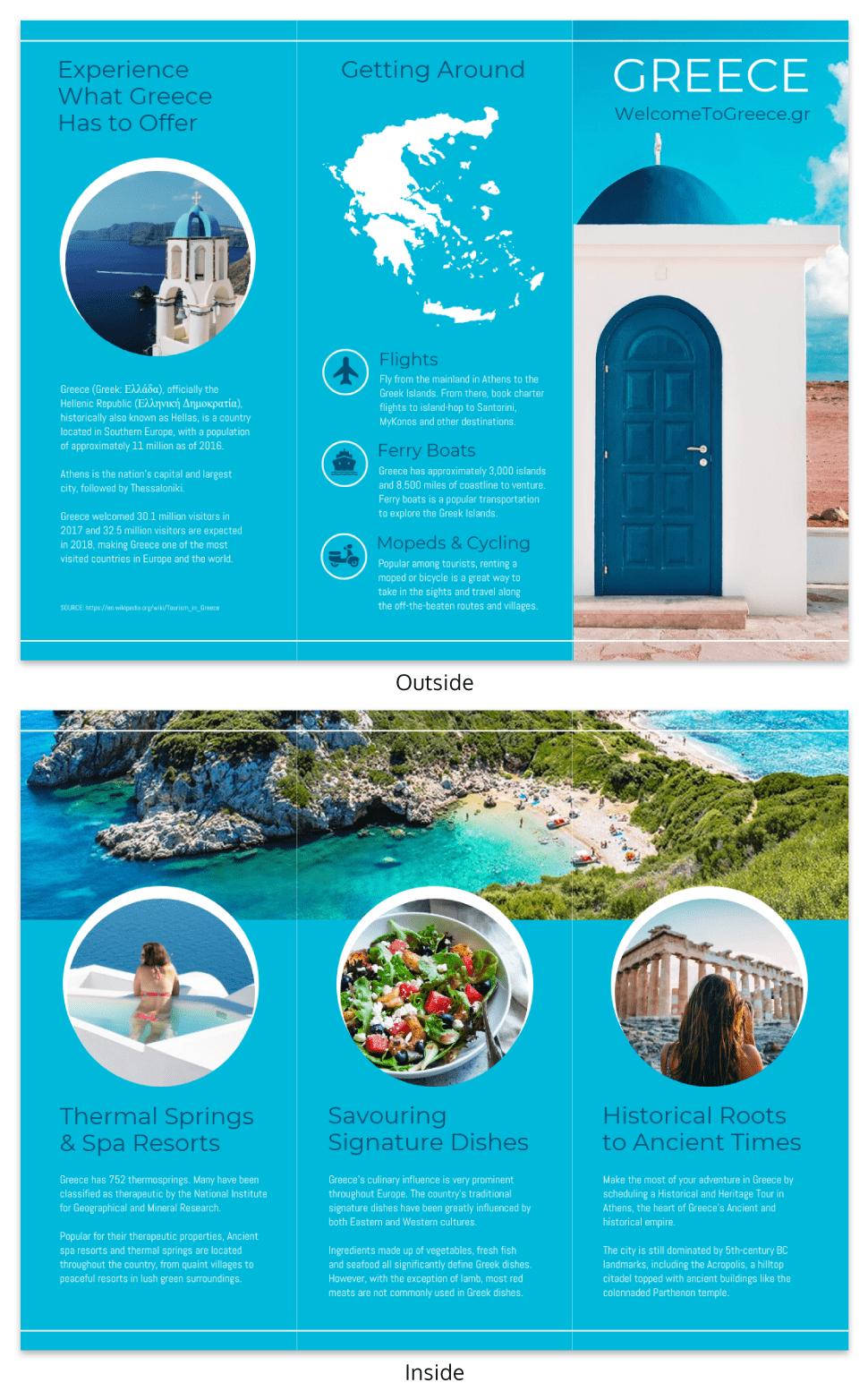 island brochure template professional template. Black Bedroom Furniture Sets. Home Design Ideas