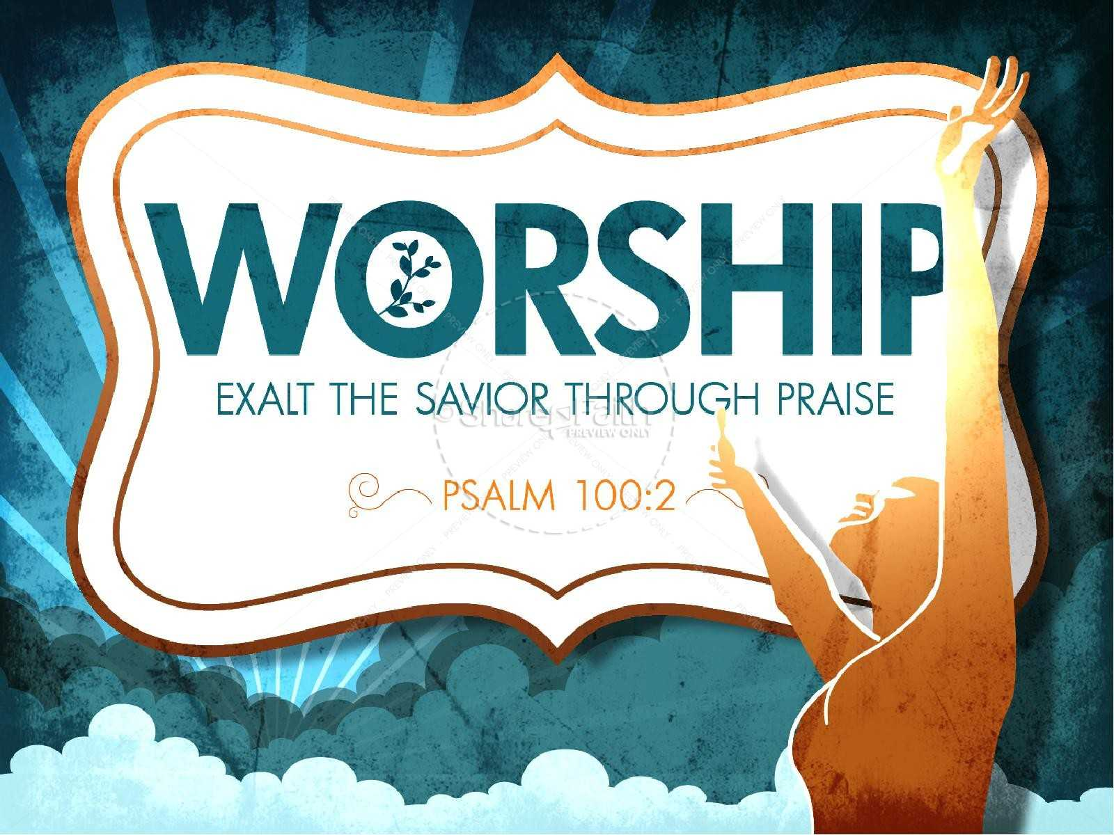 Worship Powerpoint Church Template   Powerpoint Sermons With Regard To Praise And Worship Powerpoint Templates